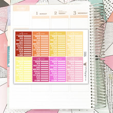 Stackable Sidebar | Self Care Tracker | Warm Colors Stickers
