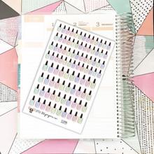 Pastel Nail Polish Stickers