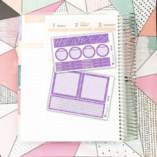 Purple Glitter Notes Pages Kit