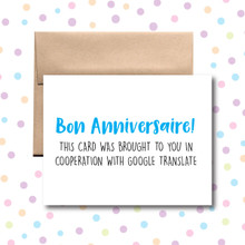 Bon Anniversaire! Brought to You By Google Translate Card