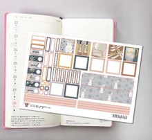 Snow Bunny Hobonichi Sticker Kit
