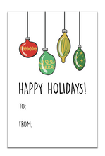 Happy Holidays Christmas Bulbs Gift Tag
