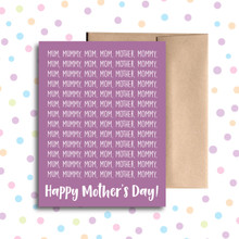 Mum, Mommy, Mom Card