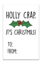 Holly Crap, It's Christmas Gift Tags
