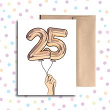 Balloon 25 Card