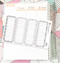 Long Lined Boxes // Planner Stickers