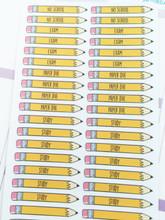 School Pencil Stickers