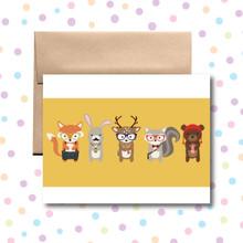 Hipster Animal Card