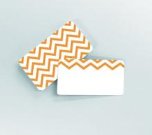 Orange Zig Zags Tiny Notes