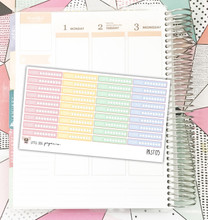 Pastel Hydrate Tracker Stickers