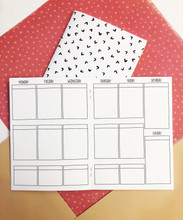 Week on Two Pages B6 Traveler's Notebook Inserts