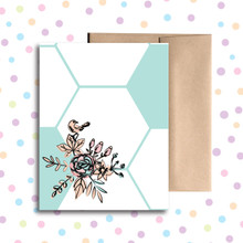 Bird and Flower Any Occasion Card