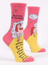 Always Be a Unicorn Women's Crew socks