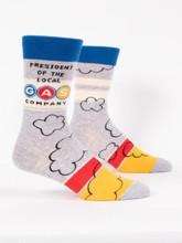 President of the Local Gas Company Men's Socks