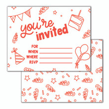 Red You're Invited Invitation Set