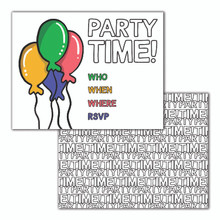 Party Time Balloons Invitation Set