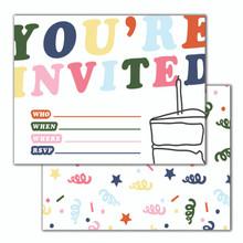 Colorful You're Invited Invitation Set