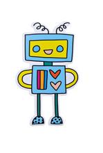 Happy Robot Vinyl Sticker