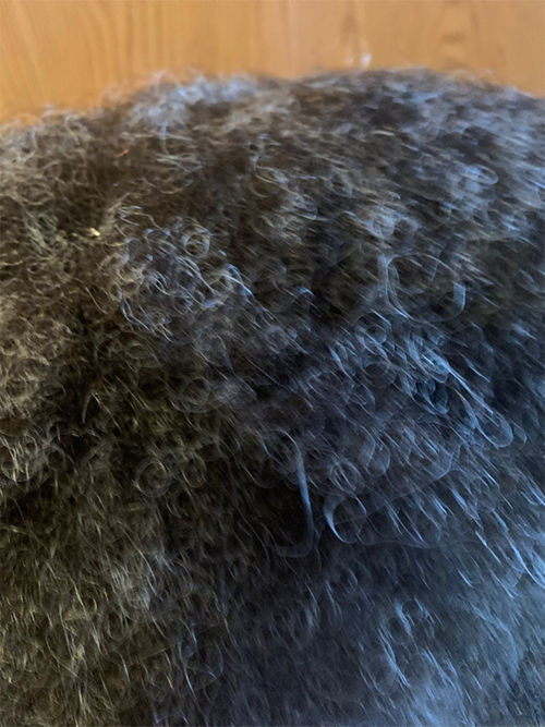 Black Afro Topper with 40% Grey