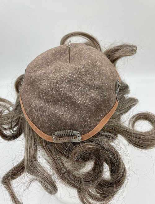Remy Human Hairpiece- Half Grey Syntheti