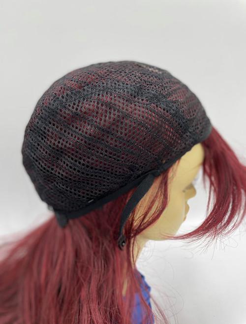 Full cap long hair wig with cut bangs
