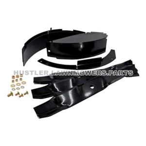 """Hustler Raptor 54"""" Mulching Blades Kit 117581 OEM"""