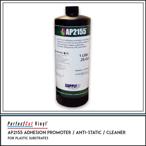 AP2155 UV Adhesion Promoter / Anti-static / Cleaner for Plastic Substrates, Liter Bottle