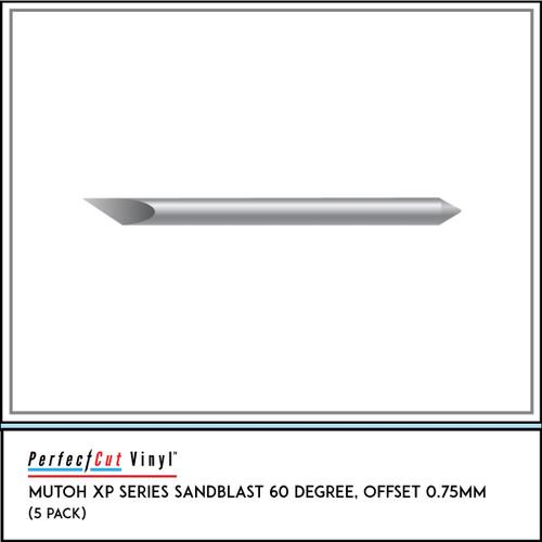 Mutoh XP Series Sandblast 60 Degree, Offset 0.75mm (5 Pack)