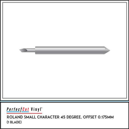 Roland Small Character 45 Degree, Offset 0.175mm (1 Blade)