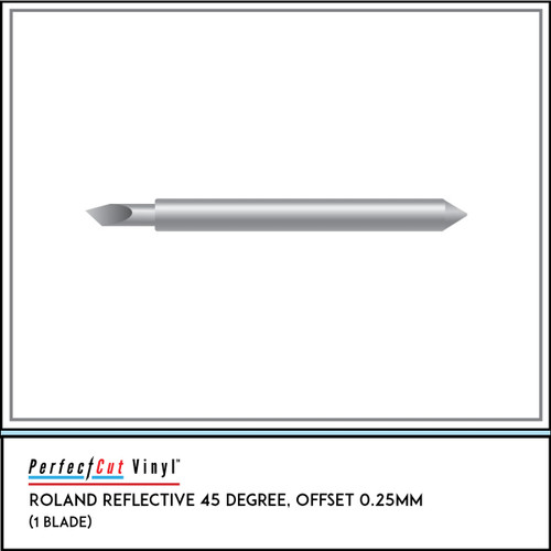 Roland Reflective 45 Degree, Offset 0.25mm (1 Blade)