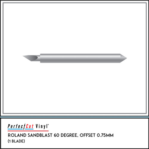 Roland Sandblast 60 Degree, Offset 0.75mm (1 Blade)
