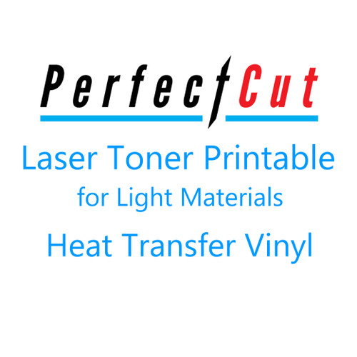 """PerfectCut Laser Light Printable Heat Transfer Vinyl for Light Materials - 10 Pack of 8.5"""" x 11"""" Sheets"""