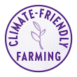 Plant and soil icon indicating New Chapter's commitment to climate-friendly farming.
