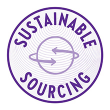 Globe icon representing New Chapter's commitment to sustainable sourcing.