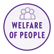 An icon representing showcasing New Chapter's commitment to public welfare.