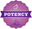 New Chapter's Potency Icon, indicating that product value is rooted in potent and consistent formulas.