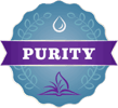 New Chapter's Purity Icon, representing pure ingredient sourcing and careful processing.