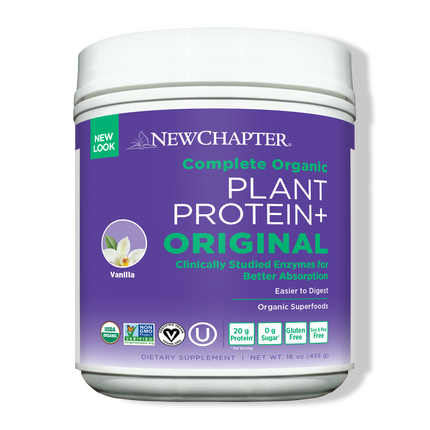 Organic Plant Protein+ Original, 15 Servings, Vanilla Flavor