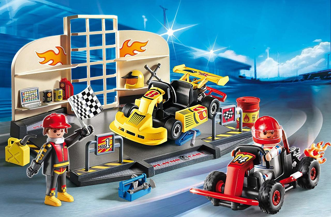 Playmobil Go Kart Garage Double Play