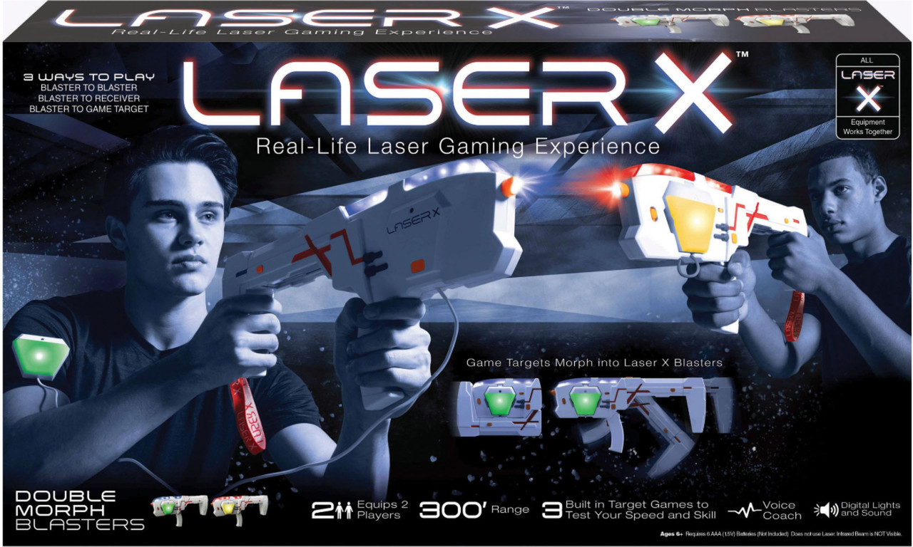 Laser X 2 Player Double Morph Laser Tag Set Double Play