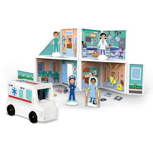 Melissa & Doug Magnetivity Hospital with Ambulance Vehicle