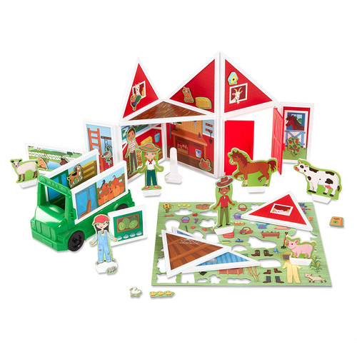 Melissa & Doug Magnetivity On The Farm with Tractor Vehicle