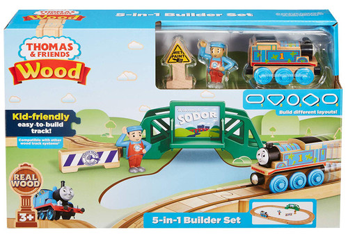 fisher price thomas 5 in 1 wooden train