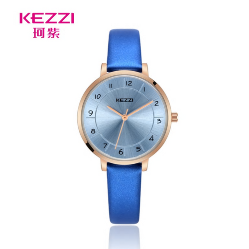 Light Blue Leather Band Watch