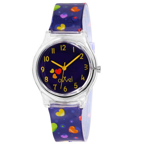 Heart Plastic Band Watch