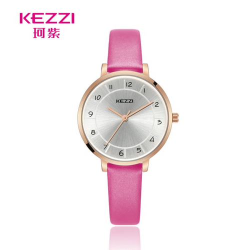Pink Leather Band Watch