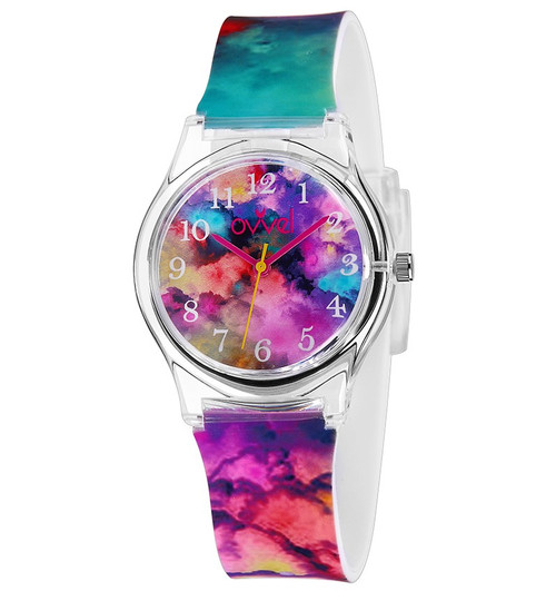 Tie Dyed Plastic Band Watch