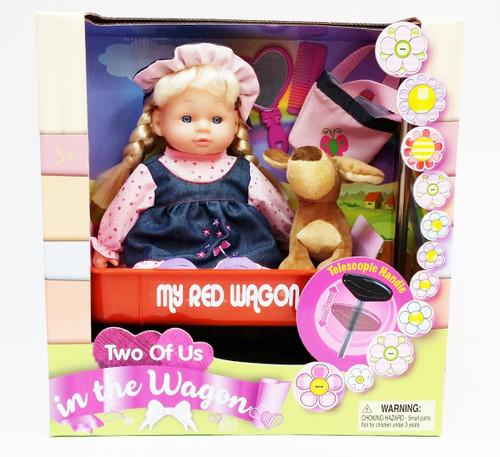 Doll and Wagon Set