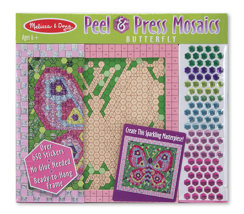 Melissa & Doug Peel and Press Mosaics Sticker by Number Kit: Butterfly