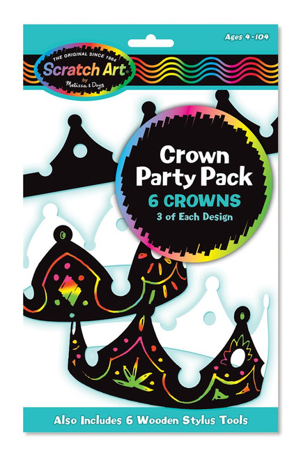 Melissa and Doug Scratch Art Crowns